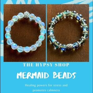Jewelry - Glass mermaid moonstone bracelet.
